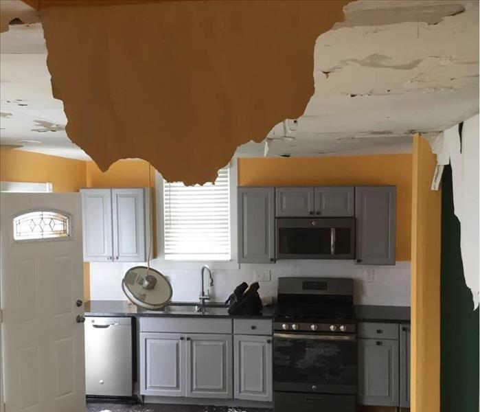 Kitchen Ceiling Collapse In Cleveland Ohio 44113  Before