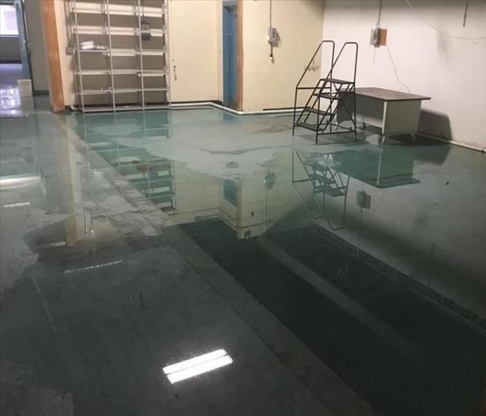 Hot Water Tank Leaks In Warehouse-Solon Ohio  Before