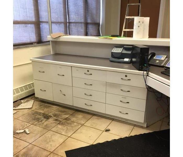 Reception Office Damaged in Shaker Heights