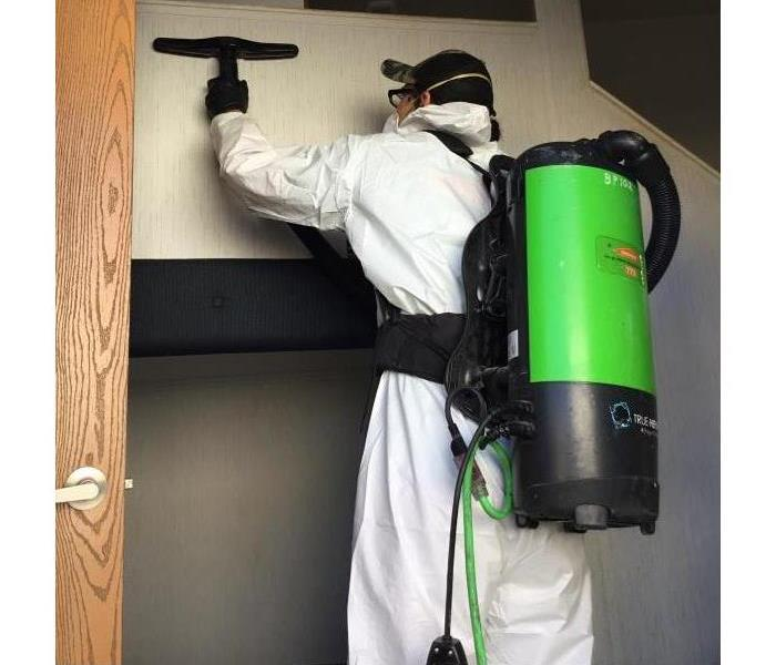 Cleaning Mold at local business