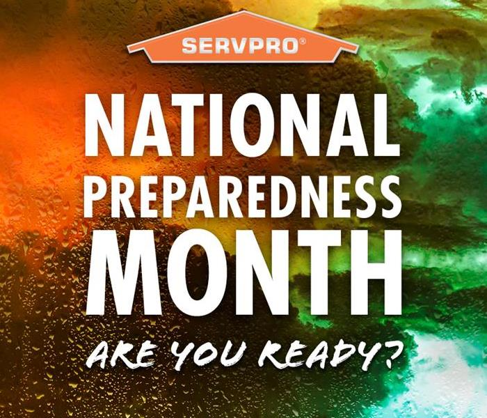 Vibrant orange and green colors fill the sky along with lightning and the SERVPRO brand within the orange house outline